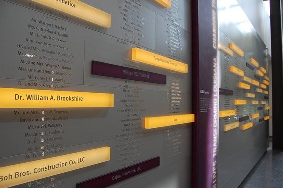 LSU College of Engineering Donor Wall