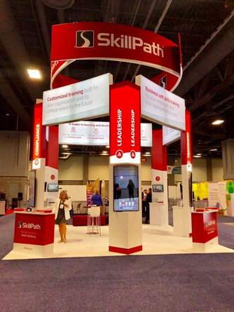 Awesome Tradeshow Booth for SkillPath.