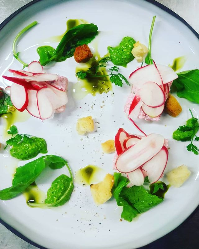 Tartelettes de radis roses coulis de jeu