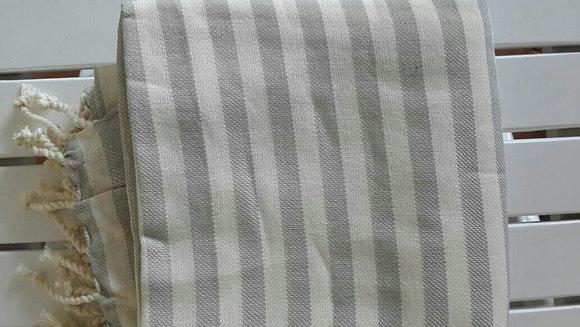 Grey Hamam Towel Stripes