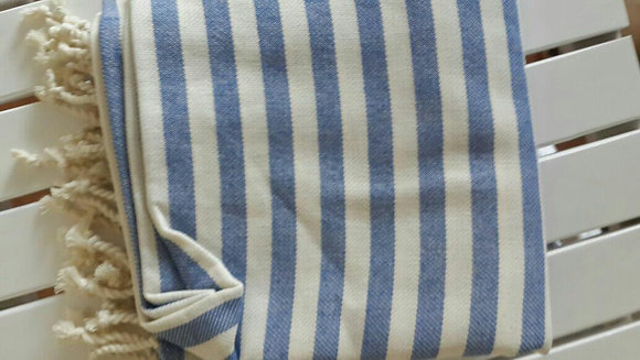 Hamam Towel Navy Stripes