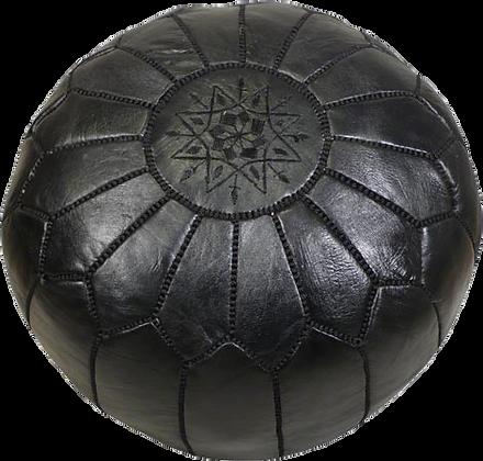 Black Moroccan Pouf