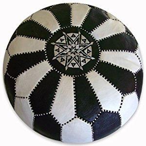 Black & White Moroccan Pouf