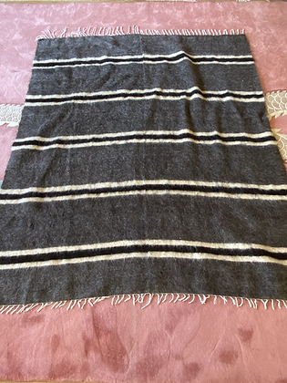 Vintage Siirt Blanket Grey/White