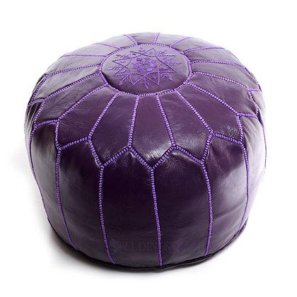 Purple Moroccan Pouf