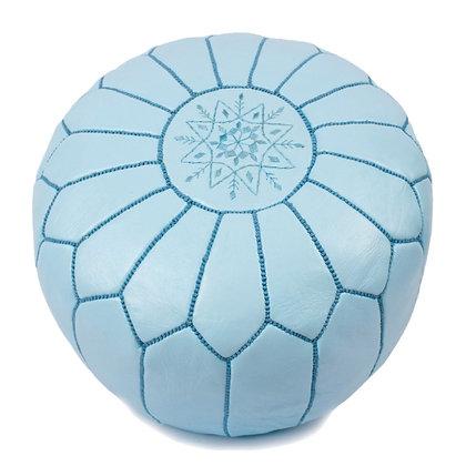 Baby Blue Moroccan Pouf