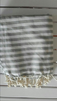 Hamam Towel Light Grey Stripes