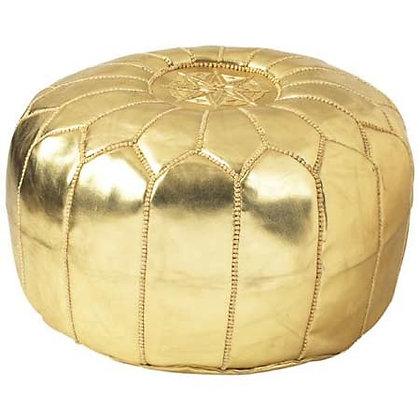 Gold Moroccan Pouf