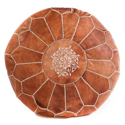 Tan Moroccan Pouf