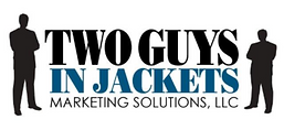 Two Guys In Jackets Marketing Solutions Logo