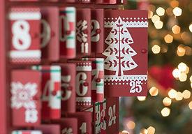 Photograph of a Wooden Advent calendar w