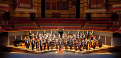 With the Royal Ballet Sinfonia at Symphony Hall, Birmingham. Photo by Caroline Holden