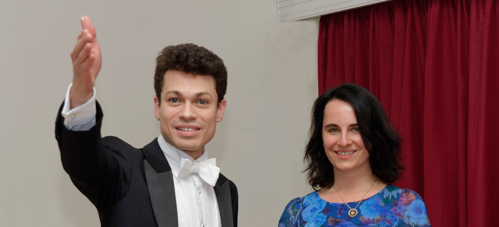 Dominic Grier with WPO President, Alissa Firsova
