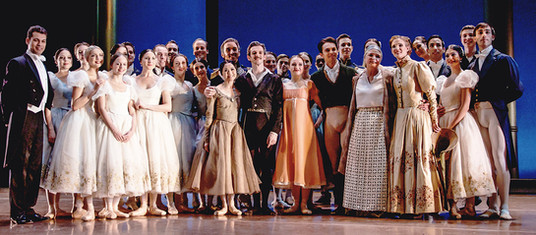 With the cast of John Cranko's 'Onegin' at the Royal Ballet of Flanders.  Photo by a member of the production team.