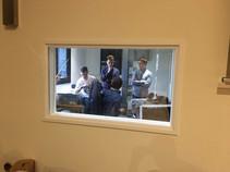 Recording session with the Berkeley Ensemble. Photo by John Slack