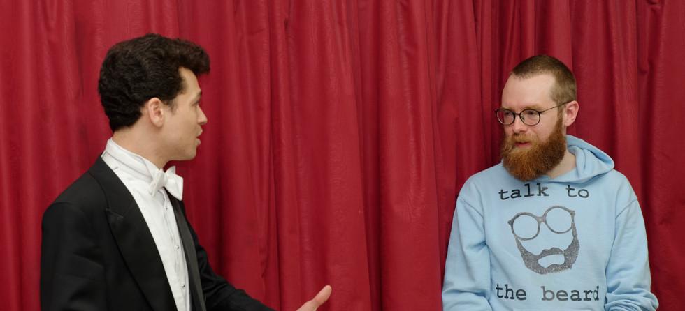 Dominic Grier thanks Composer-in-Residence, James Olsen