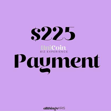 $225 UniCoin Biz Experience Payment