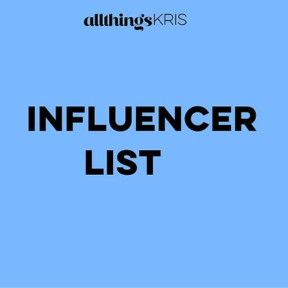 Influencer List