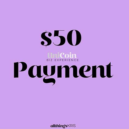 $50 UniCoin Biz Experience Payment