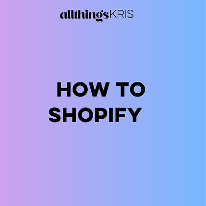 How To Shopify