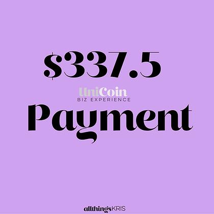 $337.50 UniCoin Biz Experience Payment