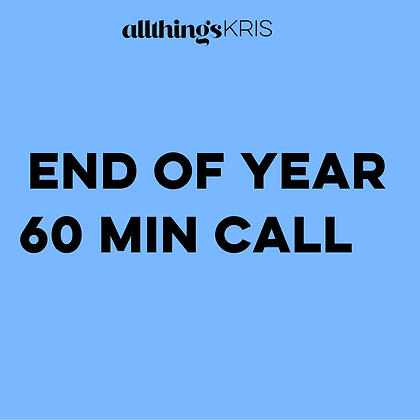 End Of The Year 60 Min Call