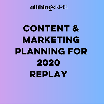CONTENT MARKETING PLANNING SESSION REPLAY