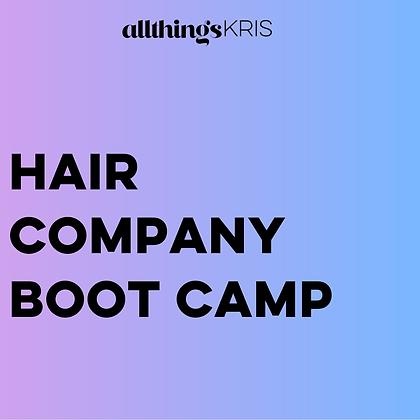 Hair Company Boot Camp
