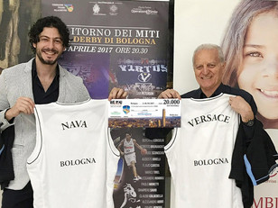 Old Star Game, consegnato un assegno record di 20.000 euro al Presidente di Operation Smile