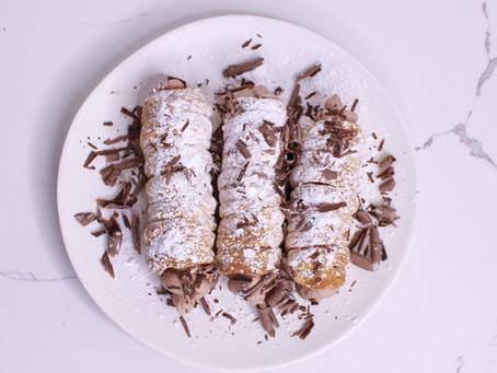Hot Chocolate Cream Rolls Recipe
