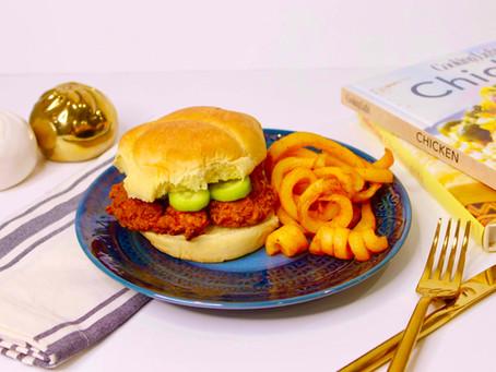 Afghan Turmeric Spiced Fried Chicken Sandwich Recipe