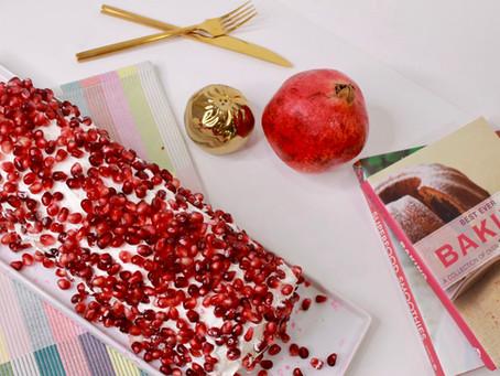 Afghan Pomegranate Roll Cake Recipe