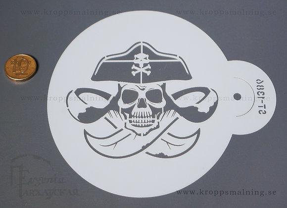 STENCIL pirat dödskalle (1386)