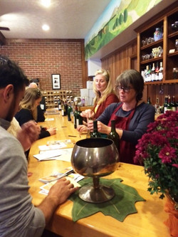 Winery staff educated us on each wine selection.
