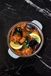 Caramelised Prawn and Mussel Jollof