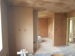 Plastered bedroom