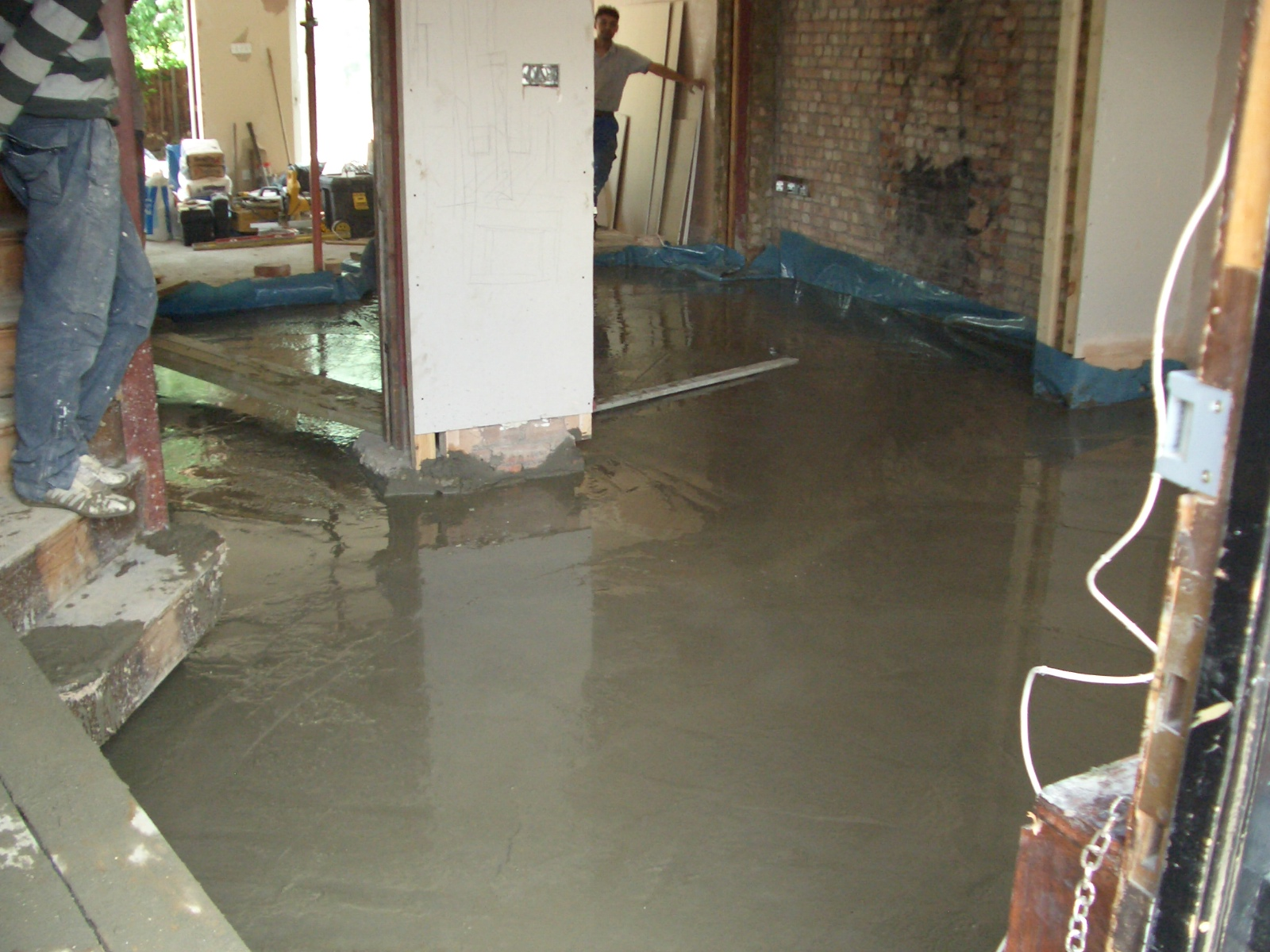 New concrete flooring