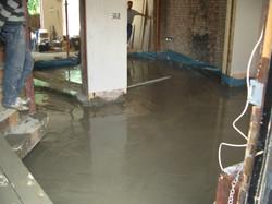 New concrete flooring