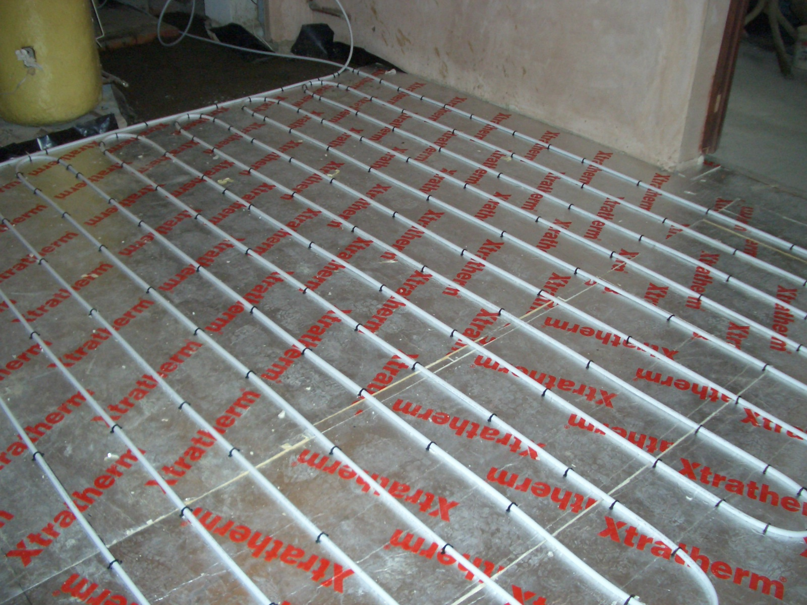 Underfloor heating installation