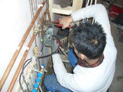 Central heating system installation
