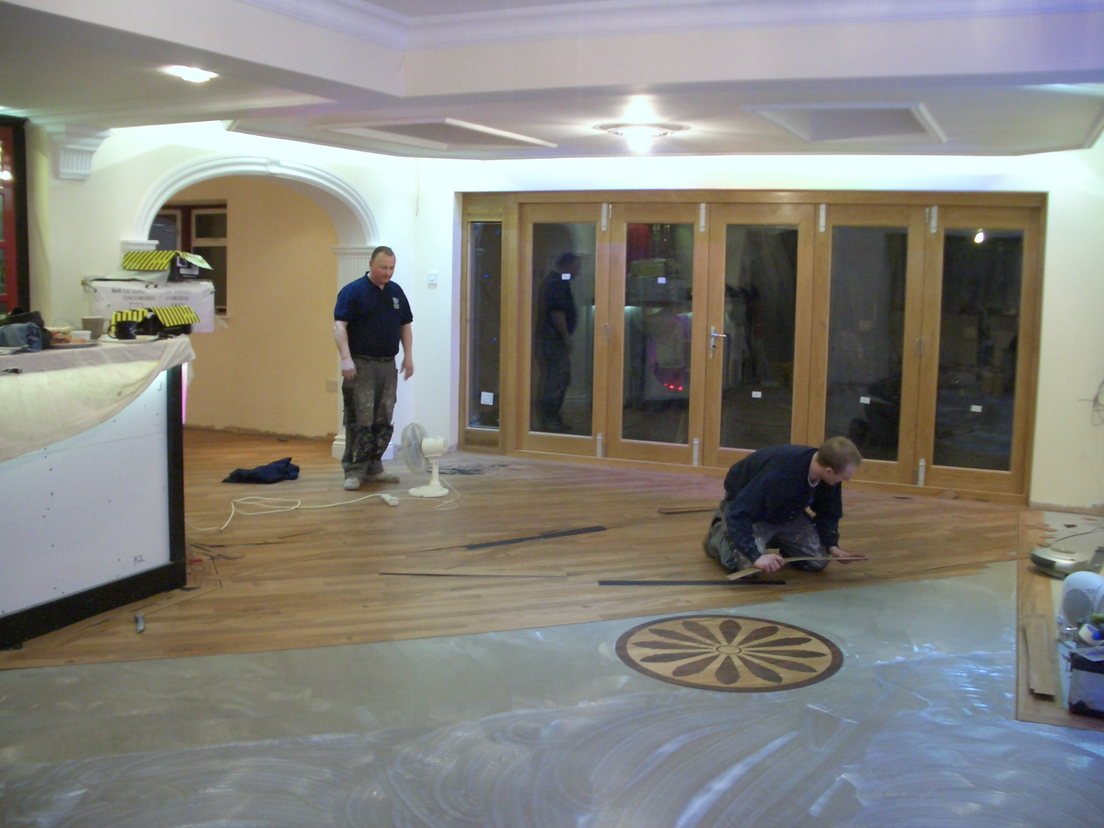 New flooring and bi-folding doors