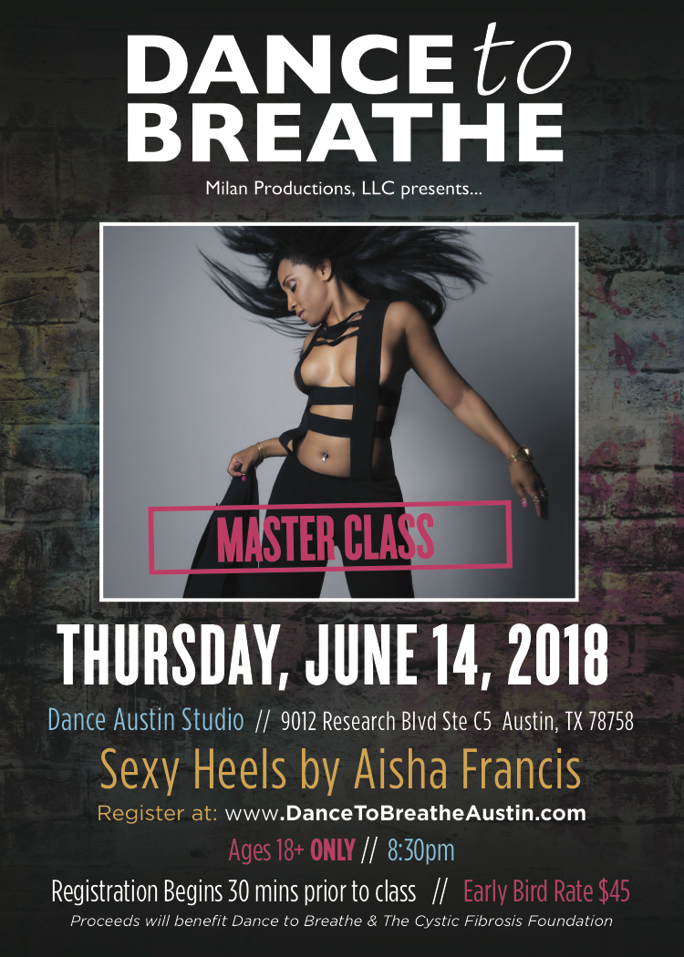 Aisha Francis Dance to Breathe Master Class 2018
