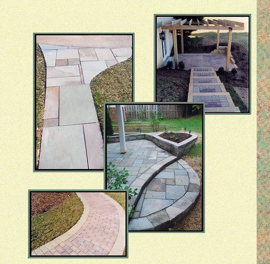 Landis Scapes patios, walks and structures