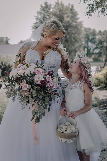 Bride with flowergirl.jpg
