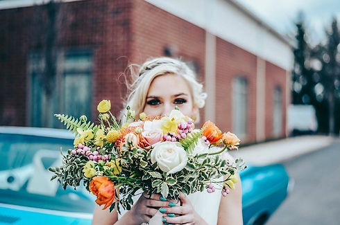 bouquet with car.jpg