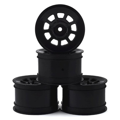 JConcepts 9 Shot 2.2 Dirt Oval Rear Wheels (Black) (4) (B6.1/XB2/RB7/YZ2) w/12mm