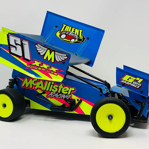 PLACERVILLE SPRINT BODY (COMPLETE WITH WINGS) 7X7 #430