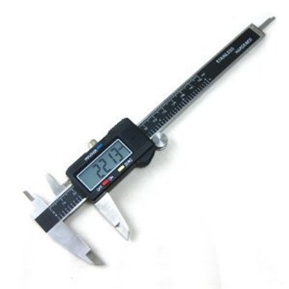 "Digital Caliper - 6"" Electronic Caliper by Calipro - Stainless Steel with XL LCD"