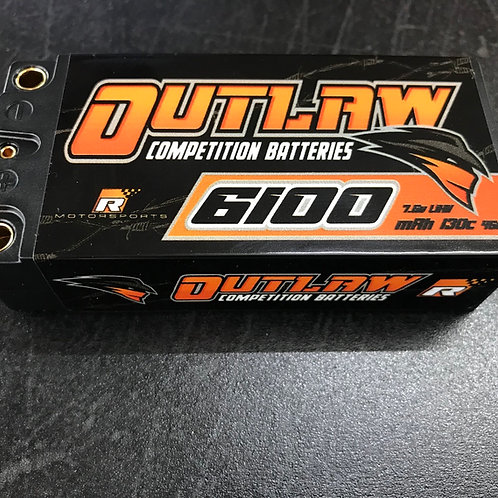 Reilley Motorsports OUTLAW 6100mAh 130c 2s LIHV Competition Battery 5mm Shorty