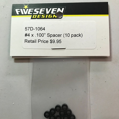 FIVESEVEN DESIGNS #4 x .100 Spacer (10) pack